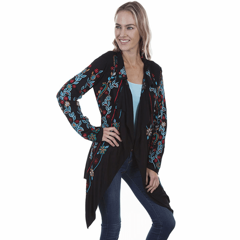 Scully Southwestern Floral Embroidered Jacket Black S-XXL