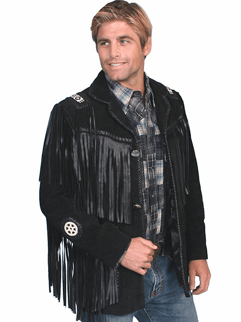 Scully Southwestern Handlaced Jacket - Black