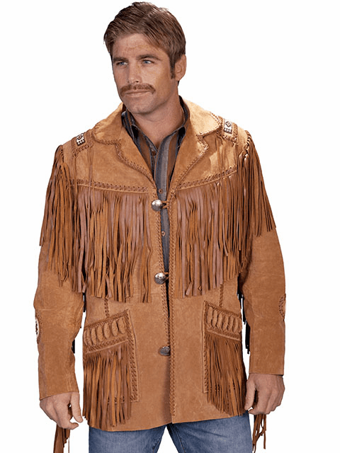 Scully Southwestern Handlaced Jacket - Bourbon