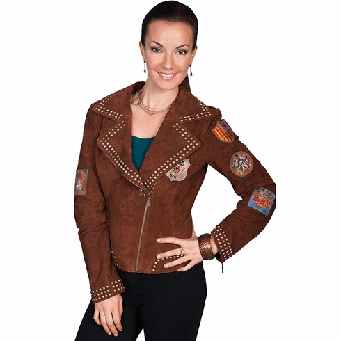 Scully Studded Patch Jacket - Cinnamon