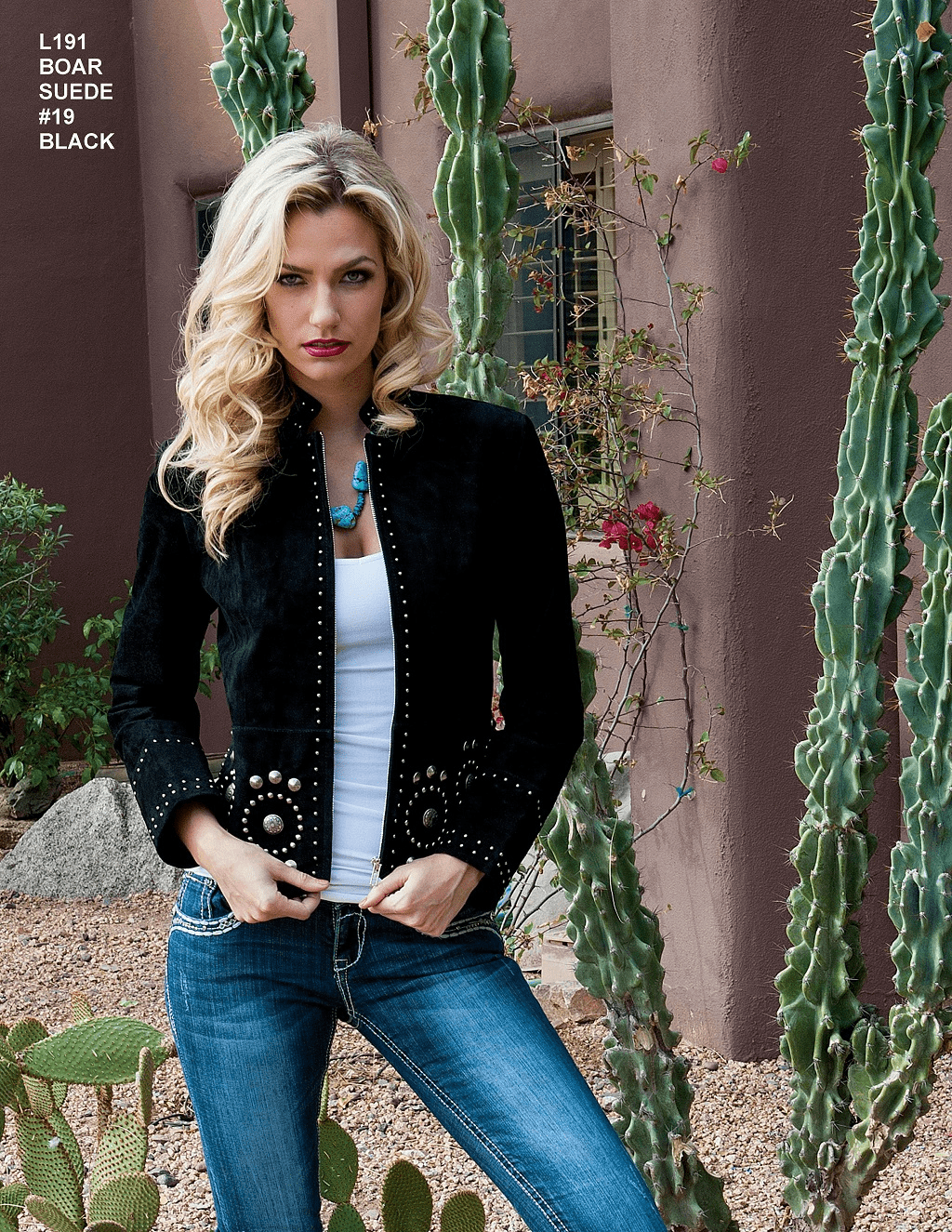 Scully Suede concho jacket Black