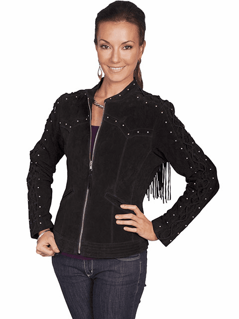 Scully Suede Fringe Jacket -Black