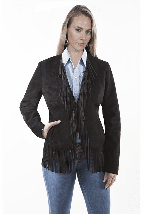Scully Suede Fringe Jacket Black