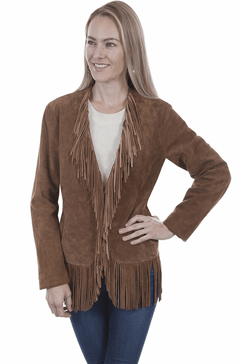 Scully Suede Fringe Jacket Cinnamon