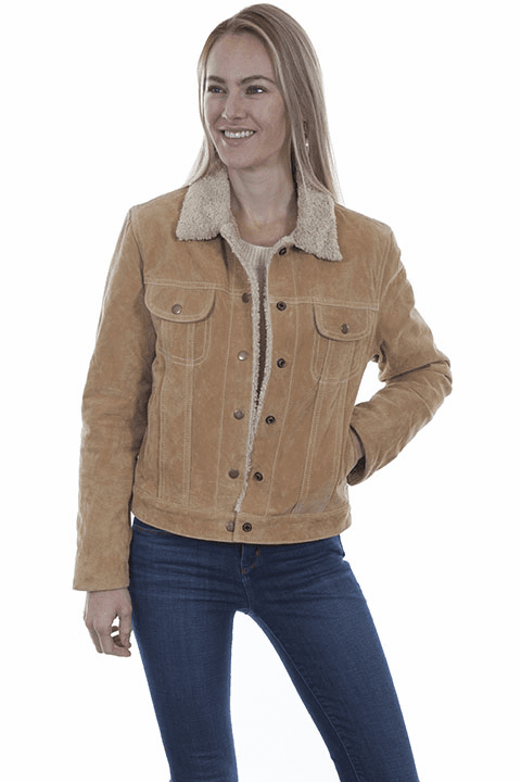Scully Suede Jean Jacket Style  - Old Rust