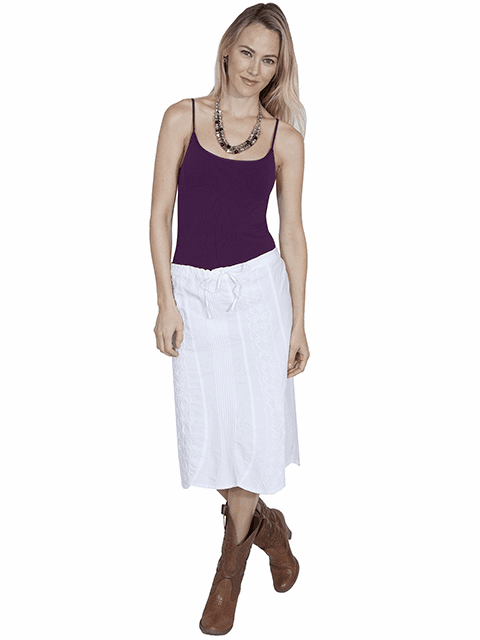 Scully Summer Cotton Skirt White