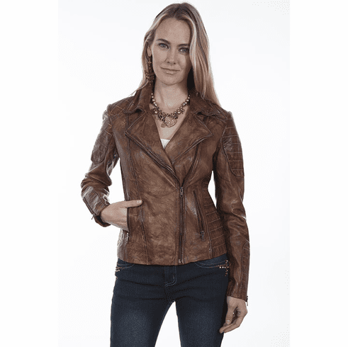 Scully tailored motorcycle jacket Brown
