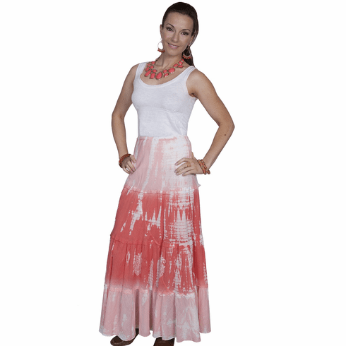 Scully Tie-Dye Skirt Coral