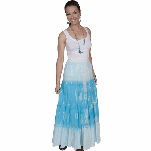 Scully Tie-Dye Skirt Turquoise