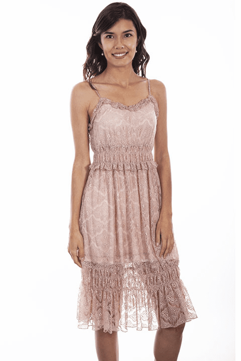 Scully Tiered Rose Dress