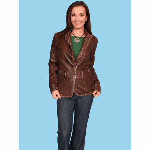 Scully Tombstone Leather Jacket Brown