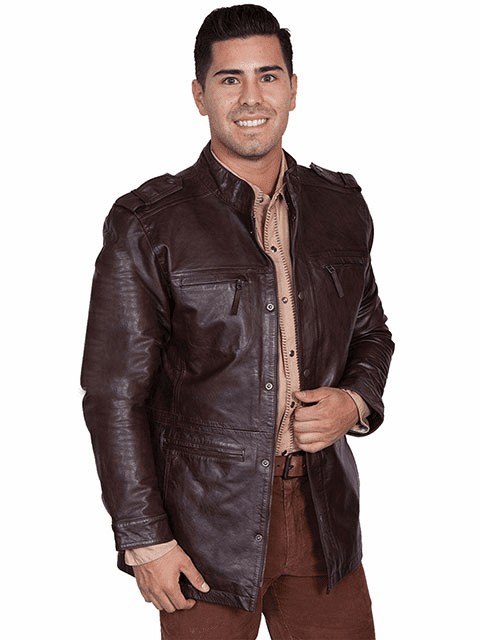 Scully Top Grain Calf Jacket Cafe Brown