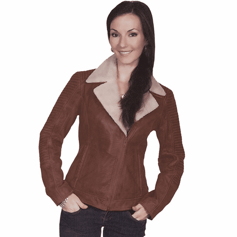 Scully Trail Leather Jacket Brown