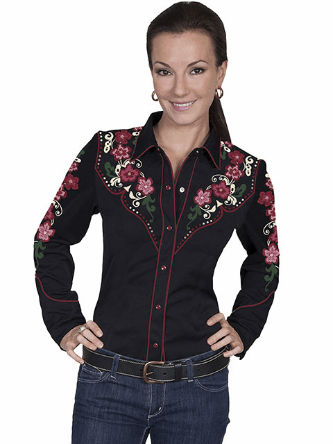 Scully Western Colorful Floral Shirt  XS-2X
