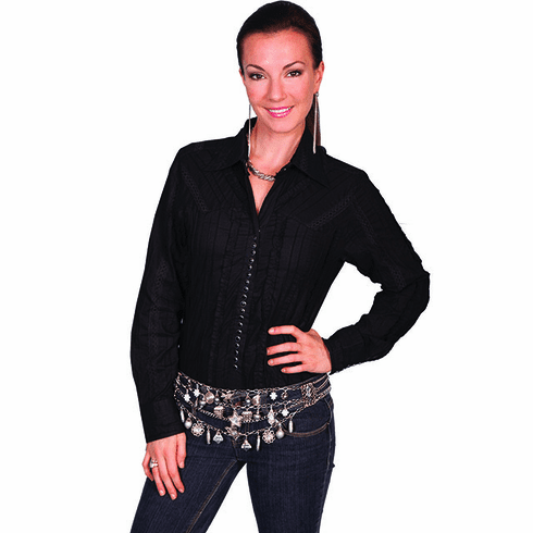 Scully Western Lace Style Shirt - Black
