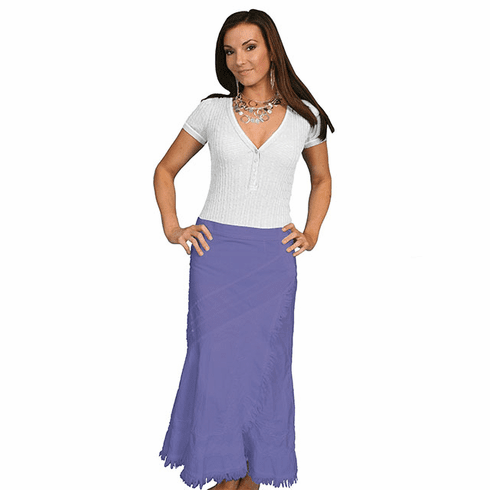 Scully Western Soutache Embroidery Skirt Violet