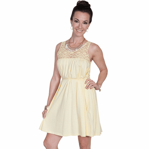 Scully Western Sweetheart Dress Yellow M-XXL