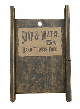 Soap and Water Towel Rack