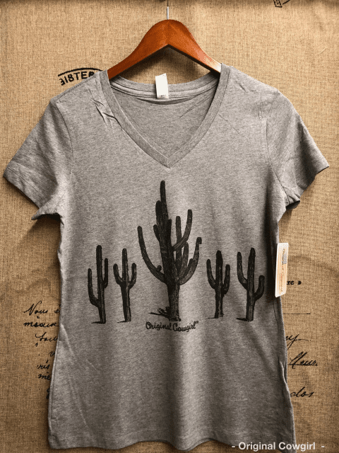 Sonora Cactus V-Neck Ladies Tee XS-4X