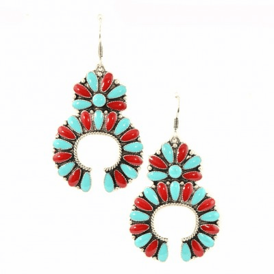 Southwestern Squash Blossom Earrings