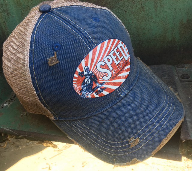 SPEED Vintage Distressed Style Cap Blue