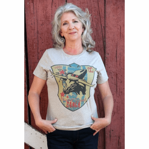 Steer with Hat  Ladies Tee (S-3XL)