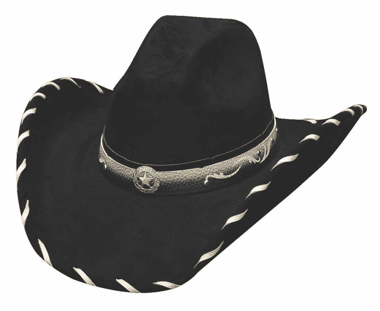 Straight Shooter Cowboy Hat  - Black
