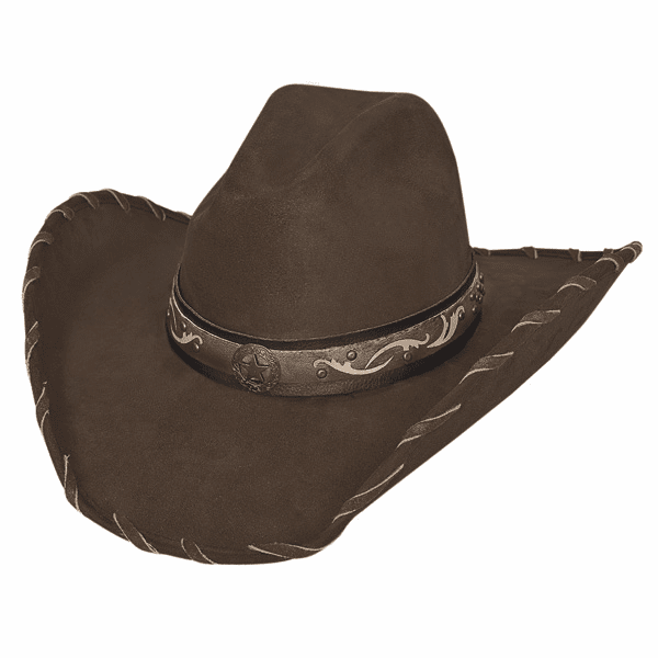 Straight Shooter Cowboy Hat - Brown