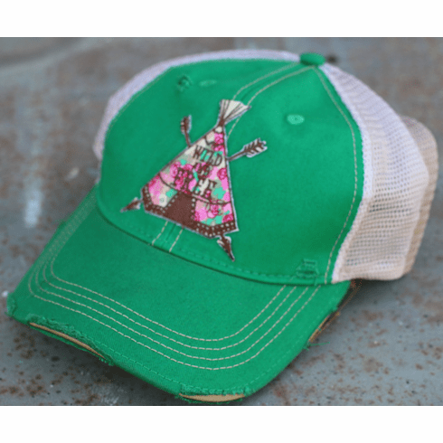 Teepee Wild and Free Cap Saguaro Green