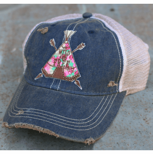 Teepee Wild and Free Cap Vintage Navy