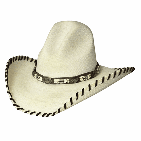 The Last Chief 20X- Shapeable Palm Leaf Straw Cowboy Hat