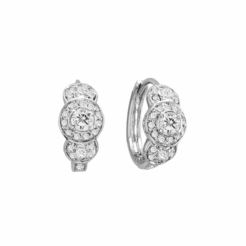 Three Crystal CZ Earrings