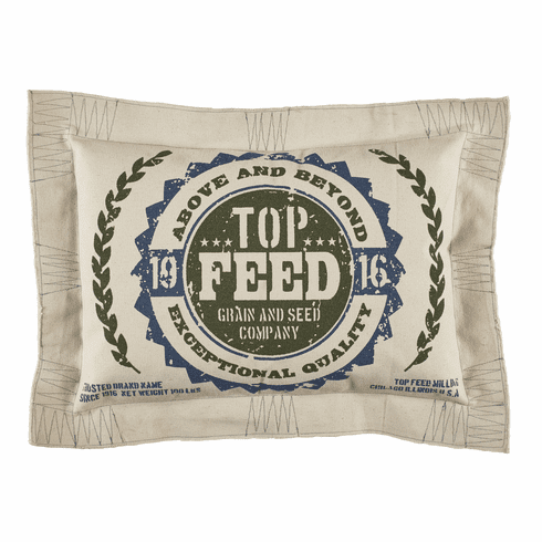 Top Feed Vintage Advertisement Pillow