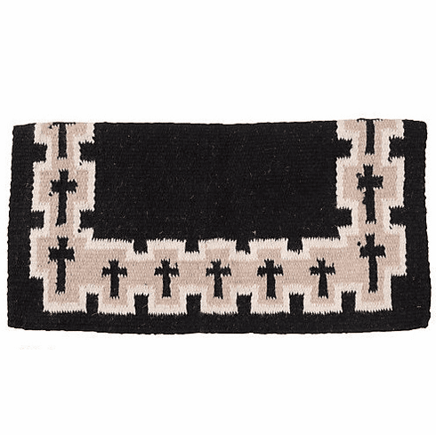 Tough-1 4 lb Wool Saddle Blanket Crosses Design - 35-8915-329-0