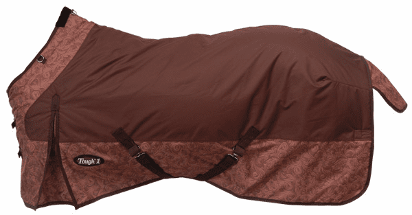 Tough-1 600D Ripstop Poly Waterproof Horse Sheet in Tooled Leather Print- 34-7125T-750-69