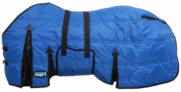 Tough-1 600D Stable Blanket W/Belly Wrap - 32-8010-2-69 Blue or Black