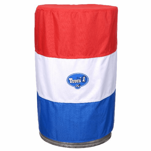 Tough-1 Barrel Cover Set in 600D Nylon in Prints Red/White/Blue