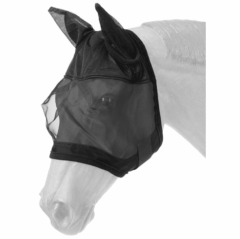 Tough-1 Fly Mask with Ears - Black - Horse