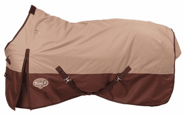 Tough-1 Polar 600D Waterproof Poly Turnout Blanket - Tan