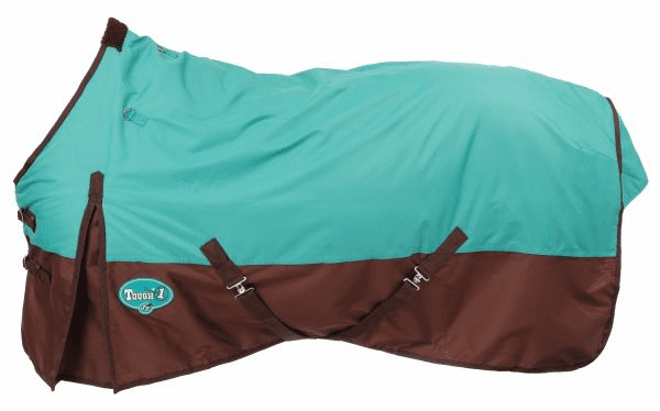Tough-1 Polar 600D Waterproof Poly Turnout Blanket - Turquoise