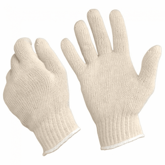 Tough-1 Poly Cotton Roper Gloves - 12 Pack - One Size Adult