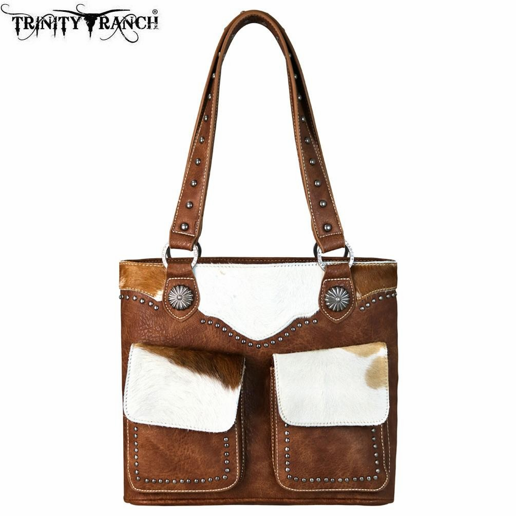 Trinity Ranch Hair-On Leather Collection Tote