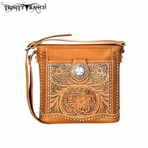 Trinity Ranch Tooled Collection Crossbody Bag