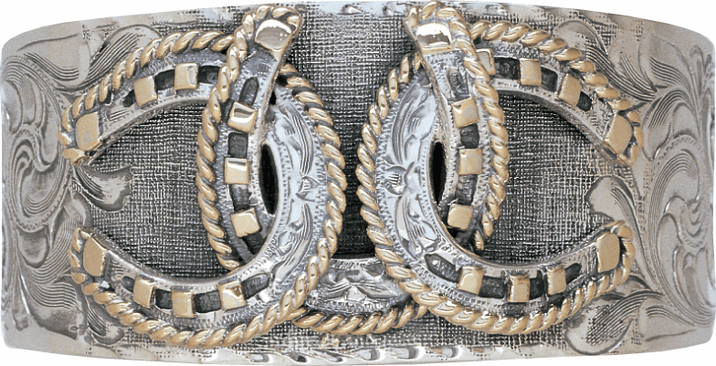 Triple Horseshoe Sterling Cuff Bracelet