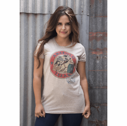 Vintage Amarillo Barrel Racing Shirt (Ladies/Plus Size)