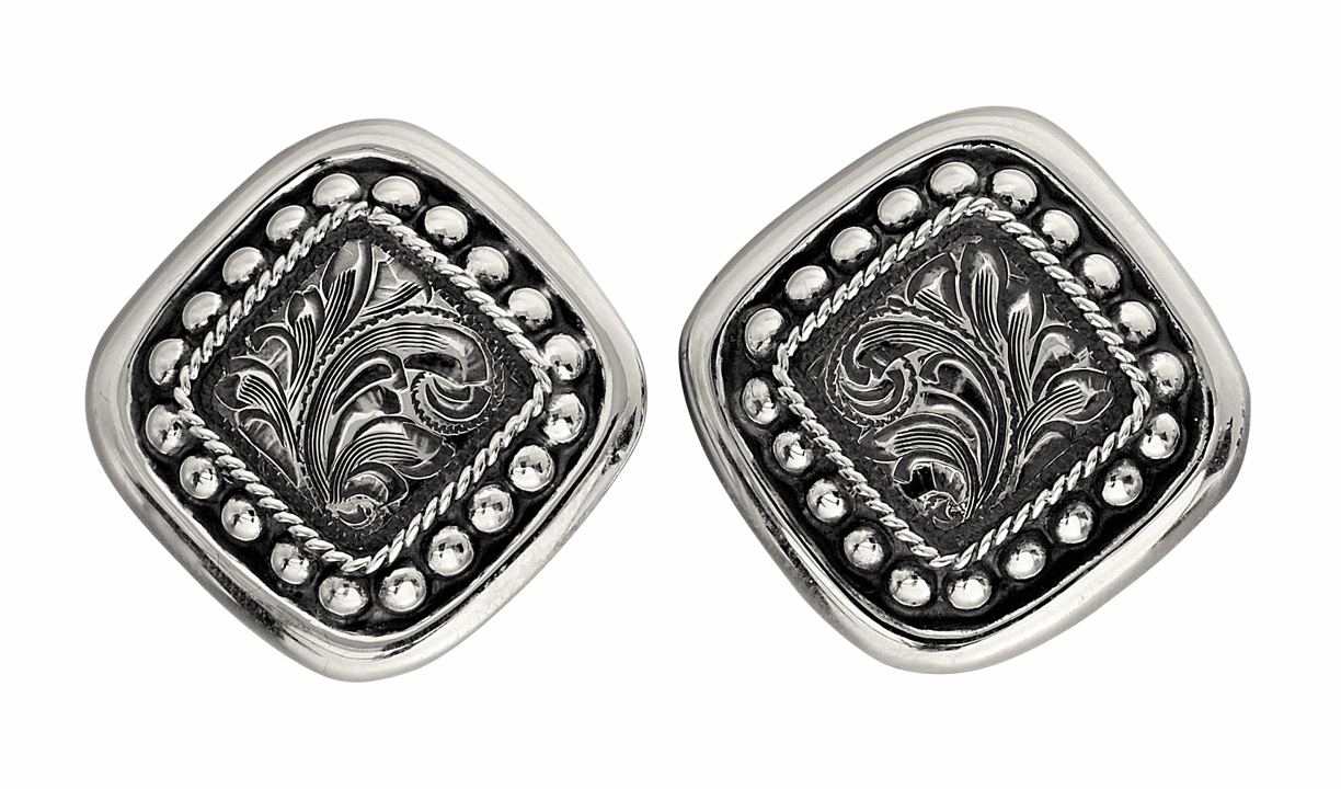 Vogt Contemporary Squared Conchos Earrings