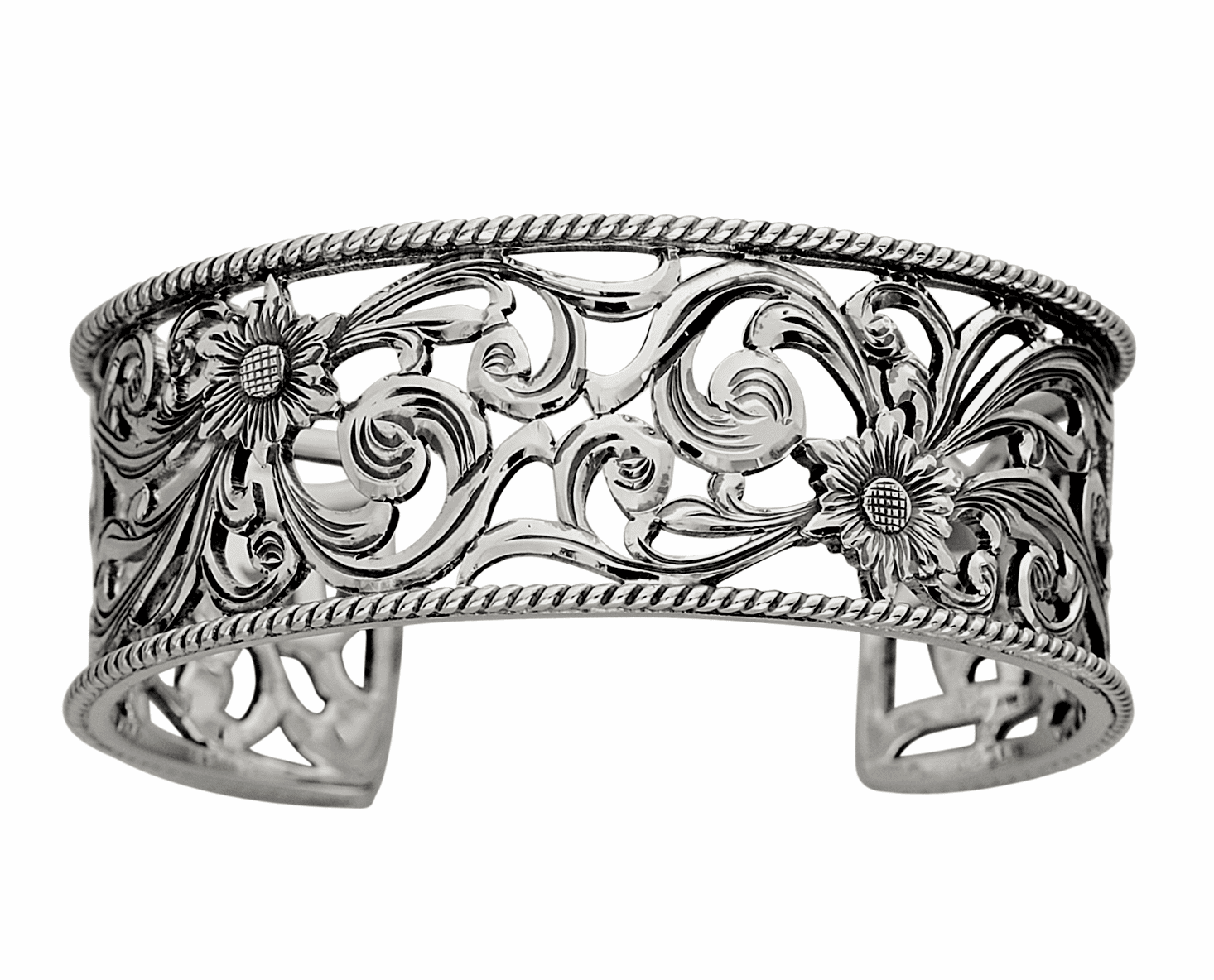 Vogt Hand Cut Filigree Rope Edge Bracelet