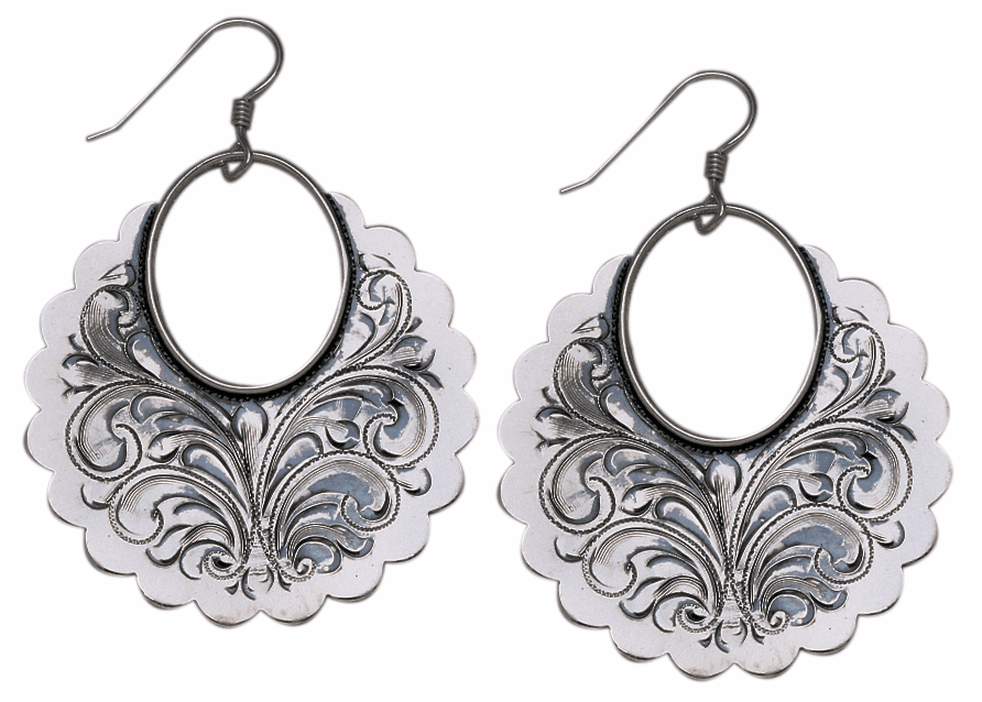 Vogt Large Scalloped Discs Earrings