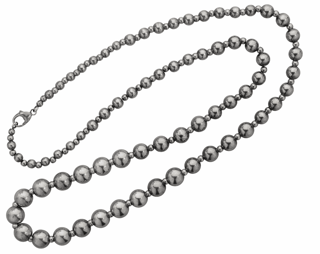 Vogt Matte Sterling Beads Necklace