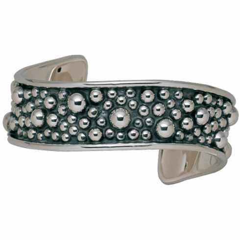 Vogt Shaped Sterling Beaded Cuff